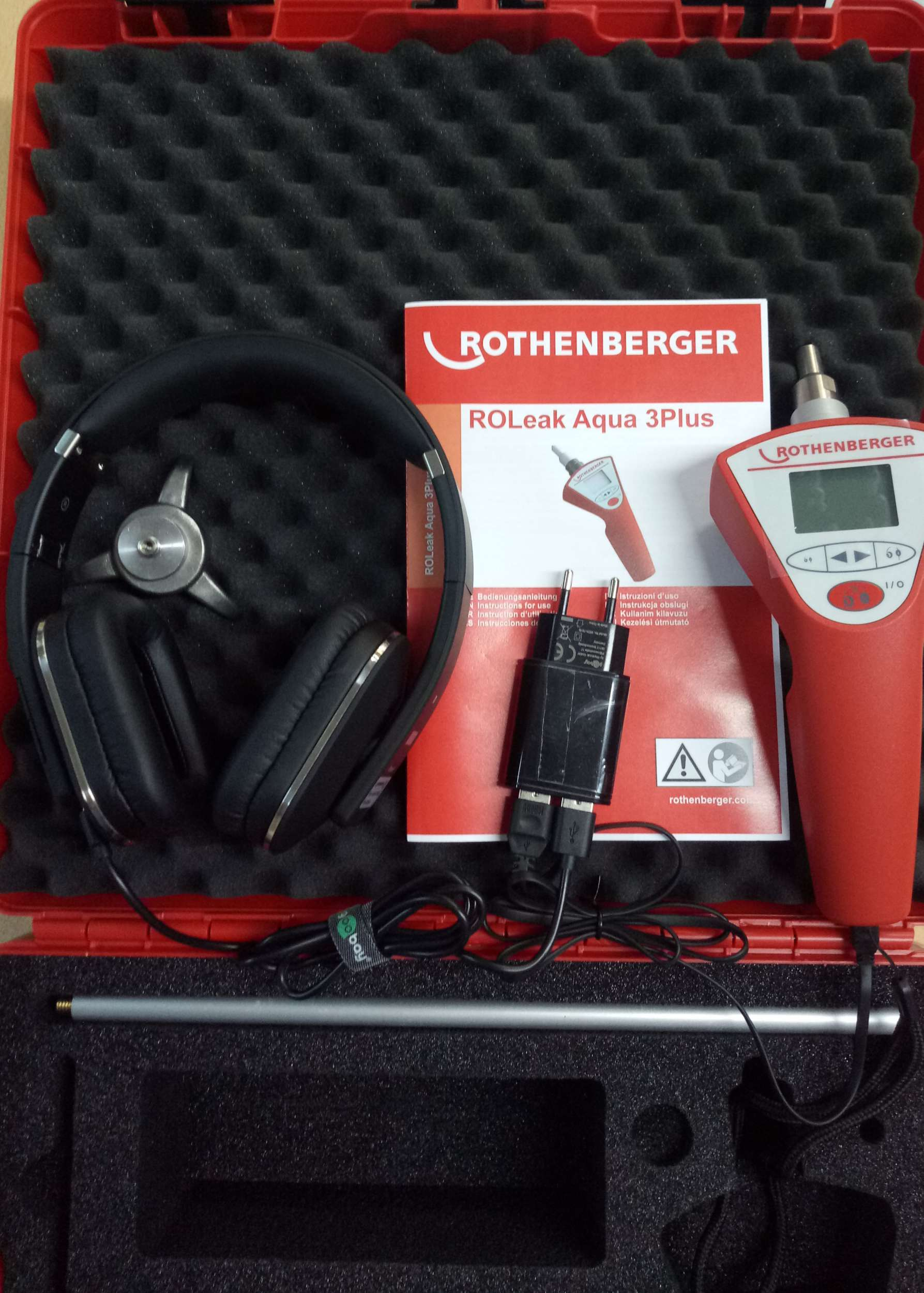 Su kaçağı tespit cihazı ROTHENBERGER ROLEAK AQUAPRO III