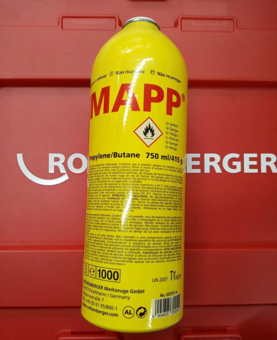 rothenberger mapp gaz kartusu 750 ml