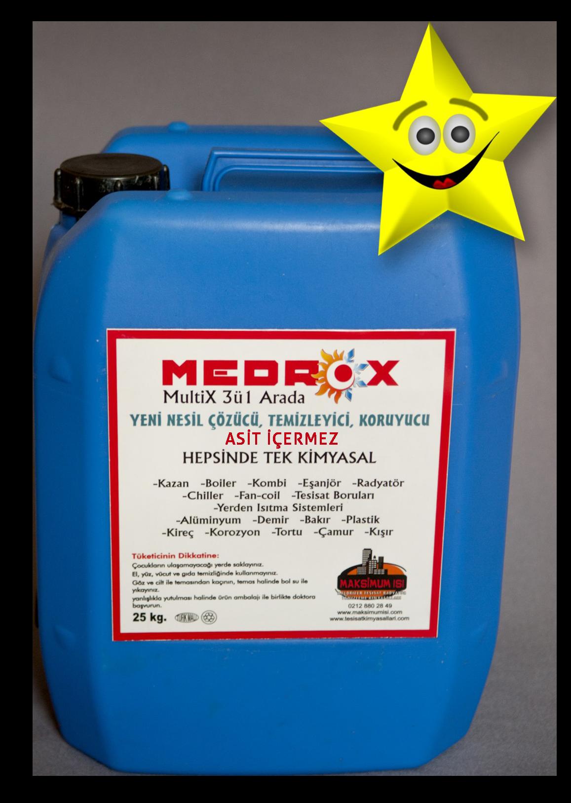 Medrox Multix Petek temizleme kimyasalı 25 Kg.