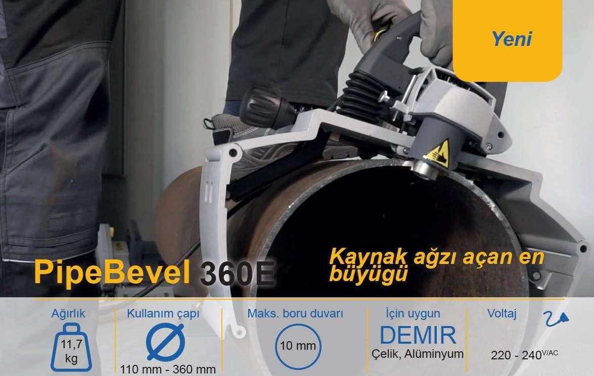 Kaynak Ağzı Açma Makinesi Exact Bevel 360E