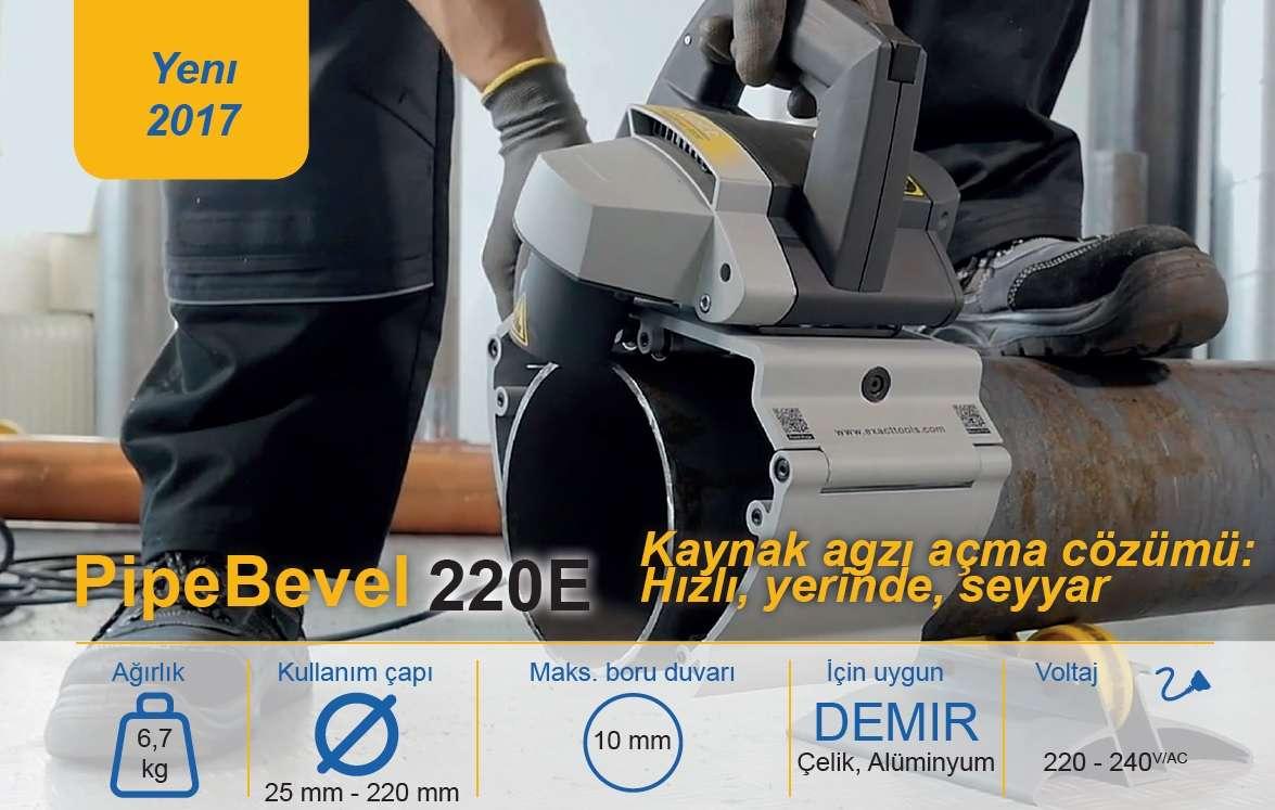Kaynak Ağzı Açma Makinesi Exact Bevel 220E