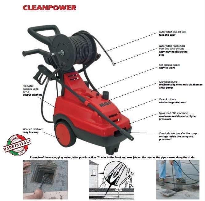 MGF CLEANPOWER 10/170 Basınçlı su ile kanal açma makinası