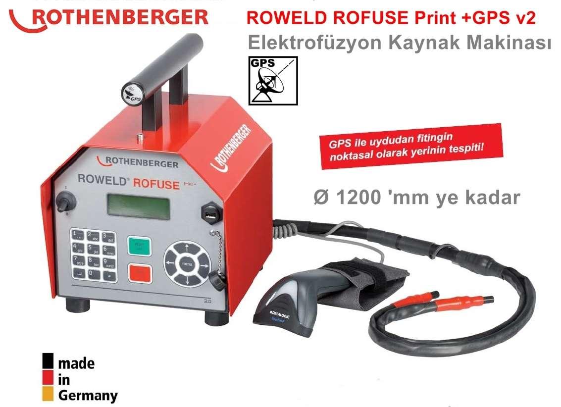 Rothenberger ROWELD ROFUSE Print+ GPS V2 Elektrofüzyon Kaynak Makinası