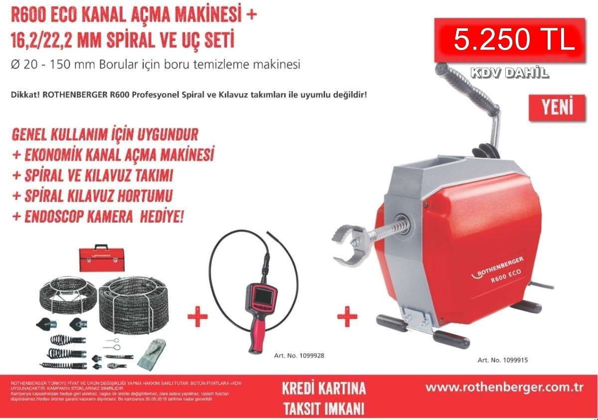Rothenberger R 600 Kanal Açma Makinası