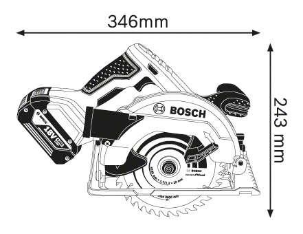 BOSCH GKS 18 V-57 G AKÜLÜ DAİRE TESTERE