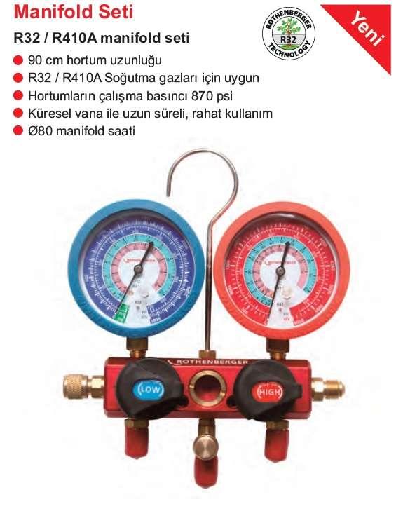 Rothenberger R32/R410 manifolt seti