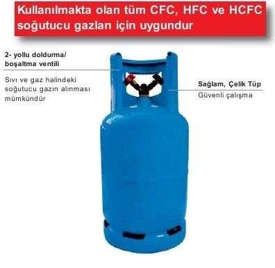 Soğutucu Gaz Toplama Tüpleri 27 lt.