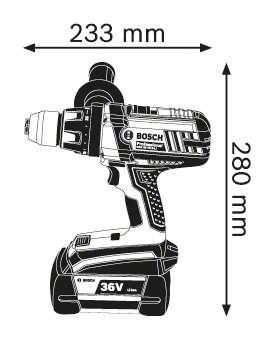 Bosch GSR 36 VE-2-LI Professional Akülü Delme/Vidalama Makinası