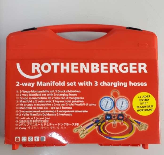 ROTHENBERGER 5 Hortumlu standart manifold seti