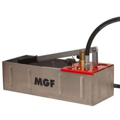 MGF Su test pompası çift pompa 60 bar ınox
