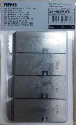 Rems pafta tarağı 1/2-3/4   341403RWS