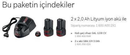 12 V Başlangıç seti GBA 12 V 2*2,0 Ah + gal 12v-40  hızlı şarj cihazı