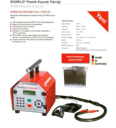 Rothenberger elektrofüzyon roweld rofuse print plus  v2.0 ,1200mm'yekadar