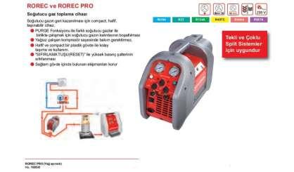 ROREC PRO Soğutucu Gaz toplama cihazı