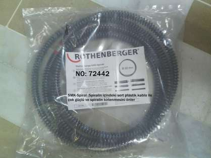 ROTHENBERGER 72442 KANAL AÇMA SPİRALİ (Ø 22 MM-SMK